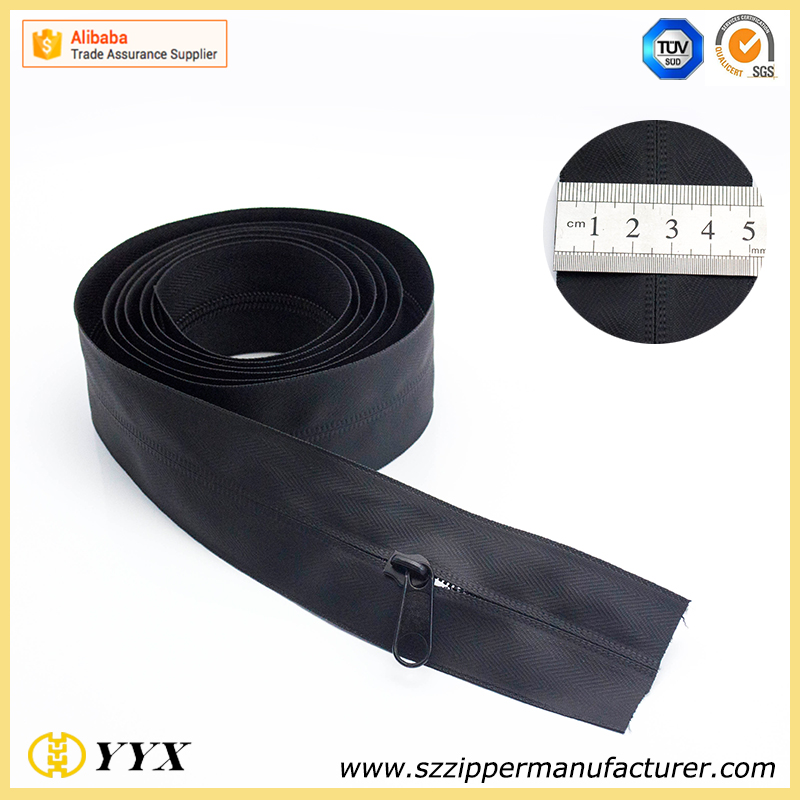 hot sale and high quality screen printing nylon waterproof zippers