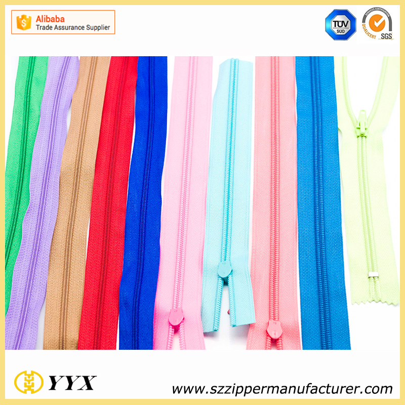 Zipper manufacturer directly supply # 3 nylon open end zipper