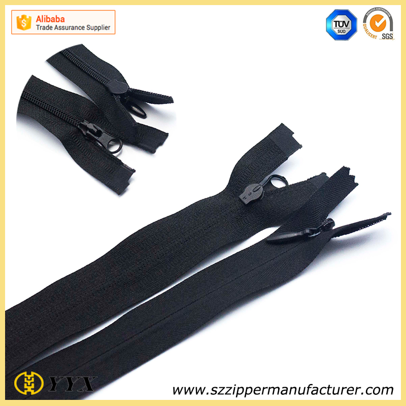 No.3 airtight invisible nylon zipper with auto lock slider