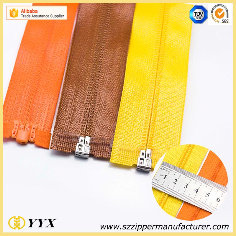 high quality camouflage print zipper cloth zipper bags coil separating zipper