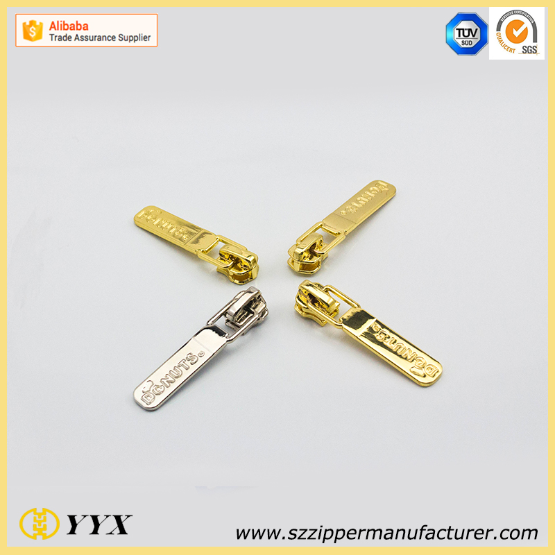 Eco-friendly garment zipper puller mold for bags pu zipper puller