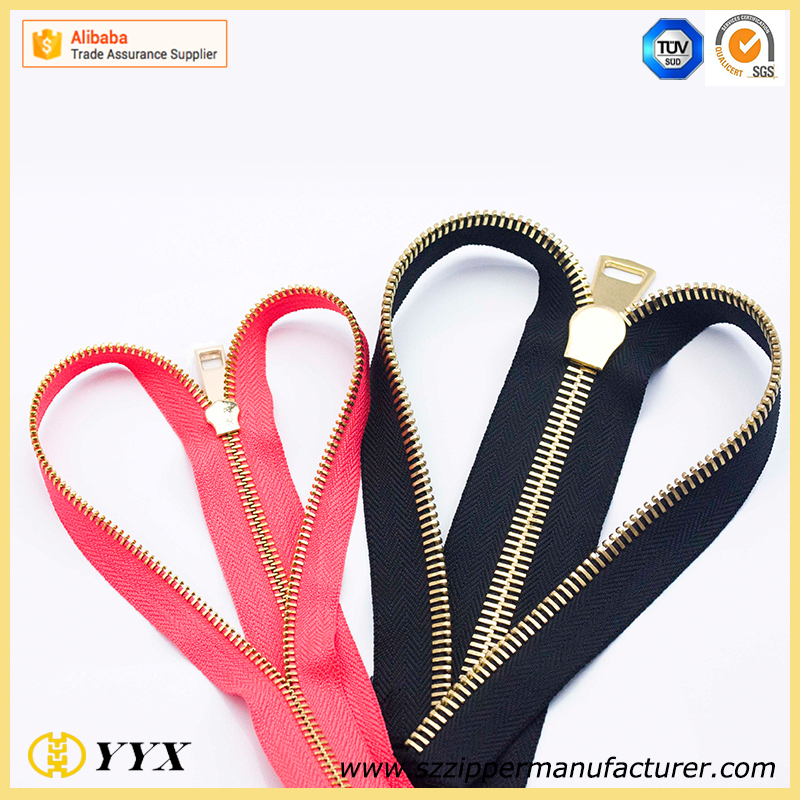 the best seller! auto lock two slider plastic zipper for purse #3#4#5#8#10#20#