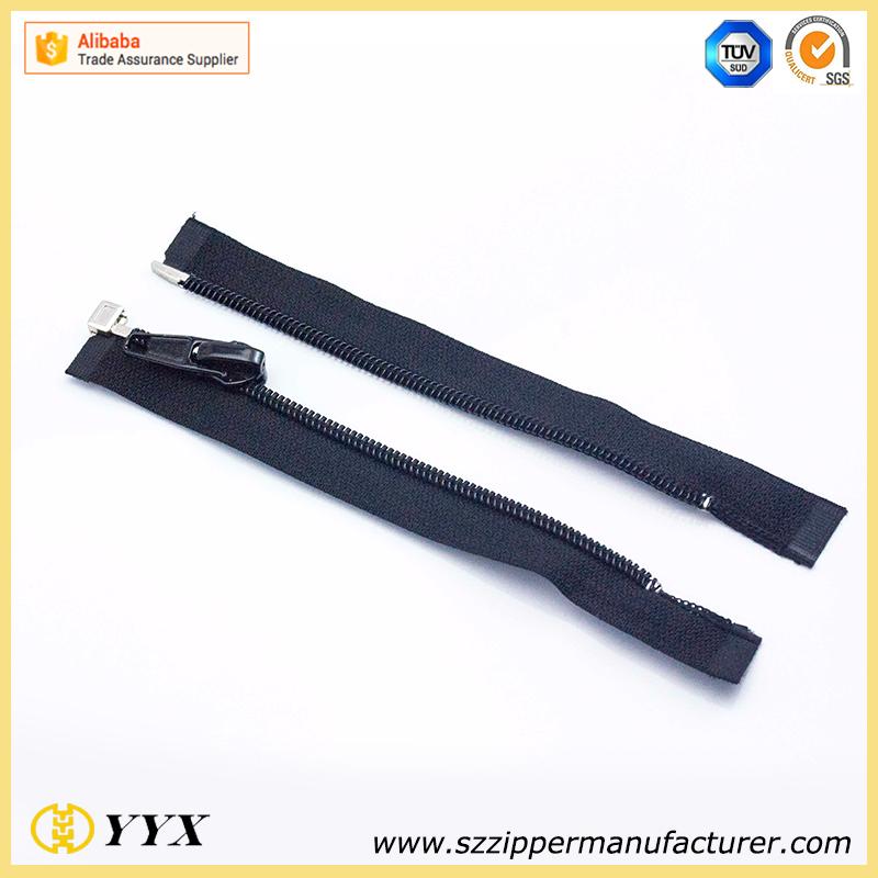 #5 fashion open end waterproof resin plastic zipper