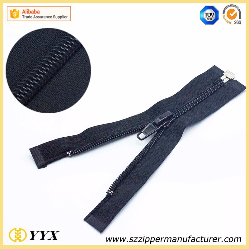 Low cost #5 auto lock waterproof zipper