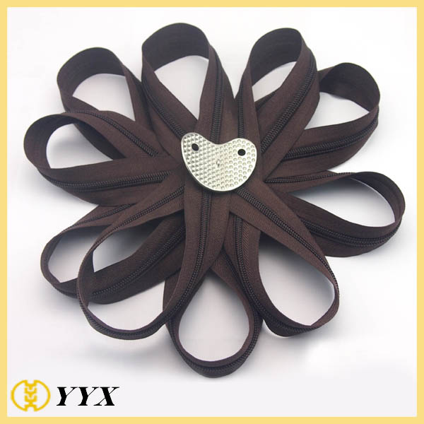 #3 #5 #8 #10 Nylon Reverse Coil Zipper for Cushion
