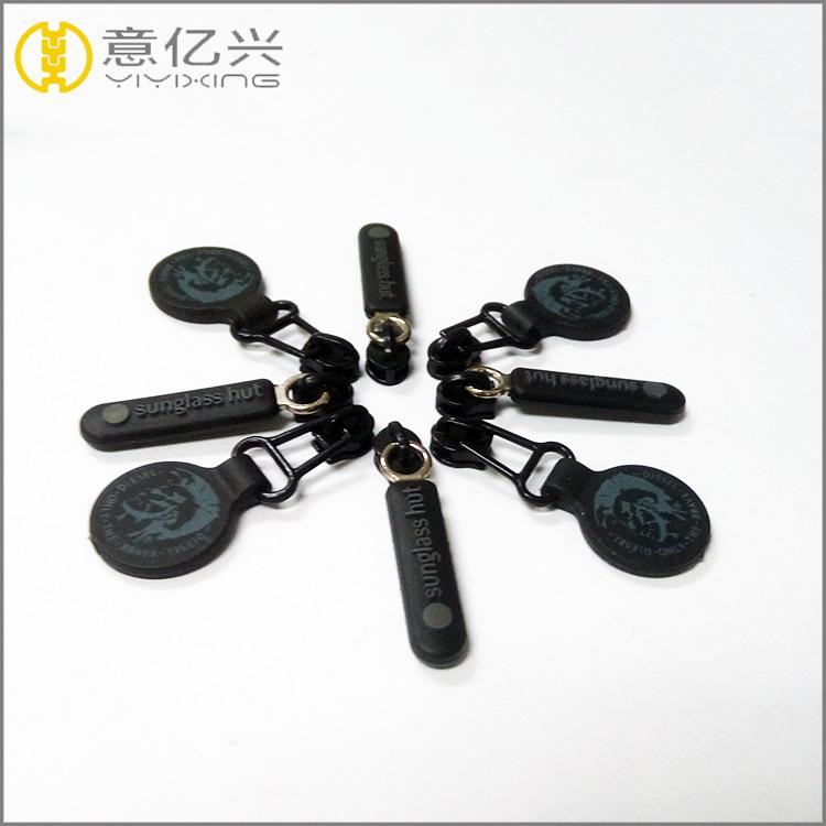 Hot selling fashion metal plastic engraved customized zipper slider for garment