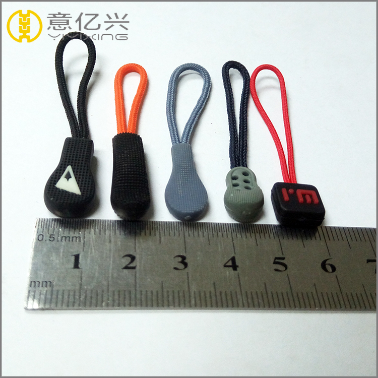 New Product Custom Metal Plastic Two Side Logo Zipper Puller