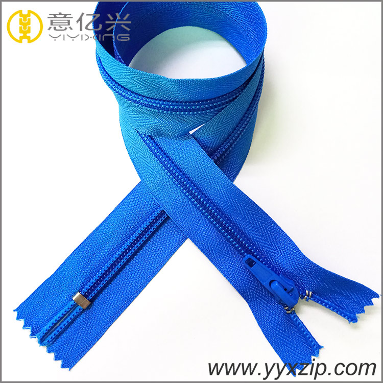 Superior quality auto-lock zipper beautiful design nylon no.5 zipper for women b