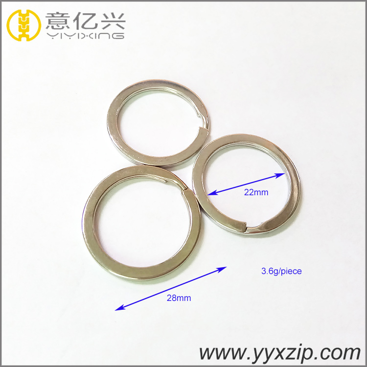 Unique customized 25mm round shaped keyring metal split key ring