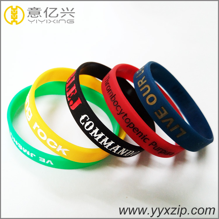 New product customized silicone bracelet with debossed/embossed logo