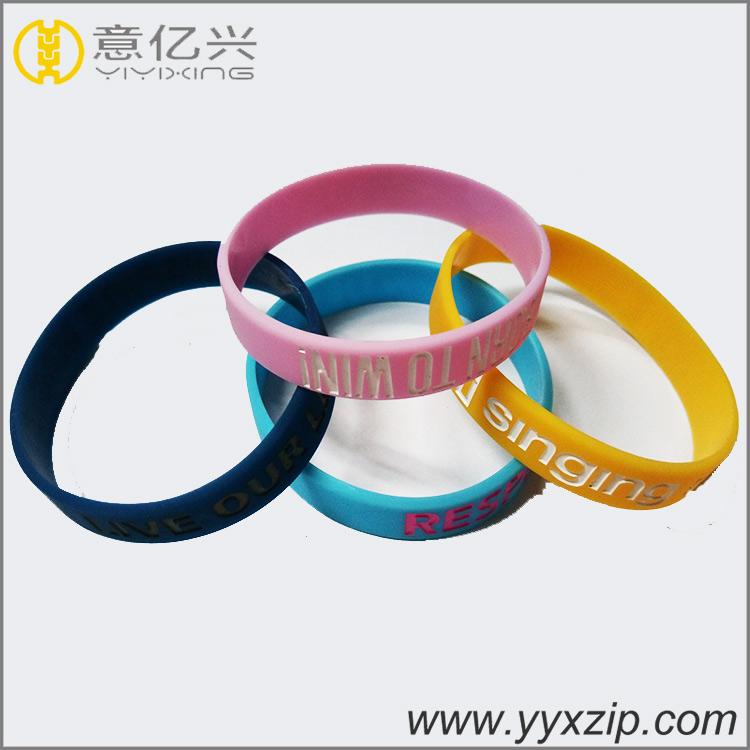 Colorful sillicone wristbands customized personalized logo silicone bracelet