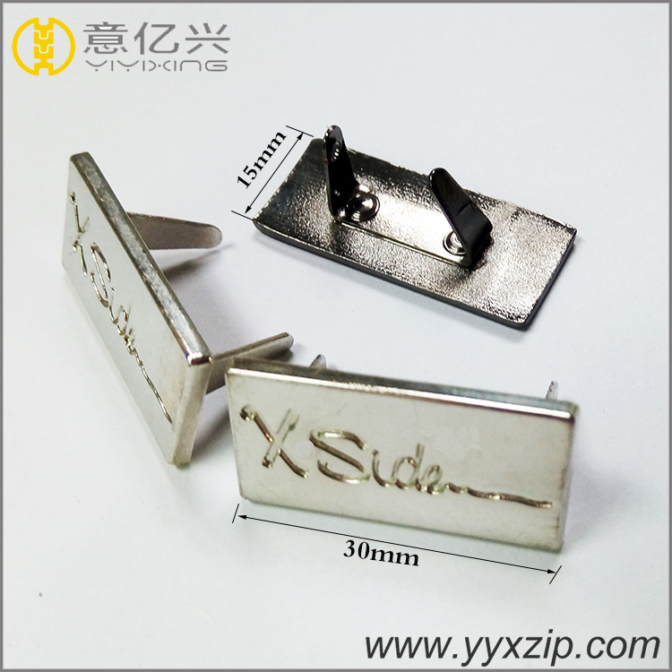 custom made metal logo charms 3D letter logo
