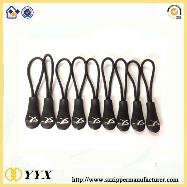 Cheap Custom 3D Logo Sports PVC Cord Zipper Pullers