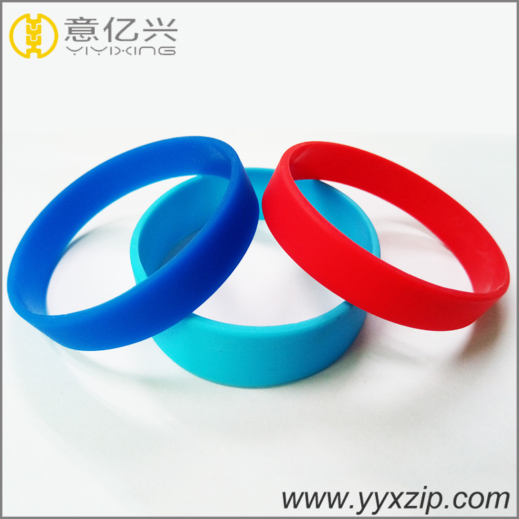 High quality promotional gifts Custom mono rubber silicone wristbands with no lo