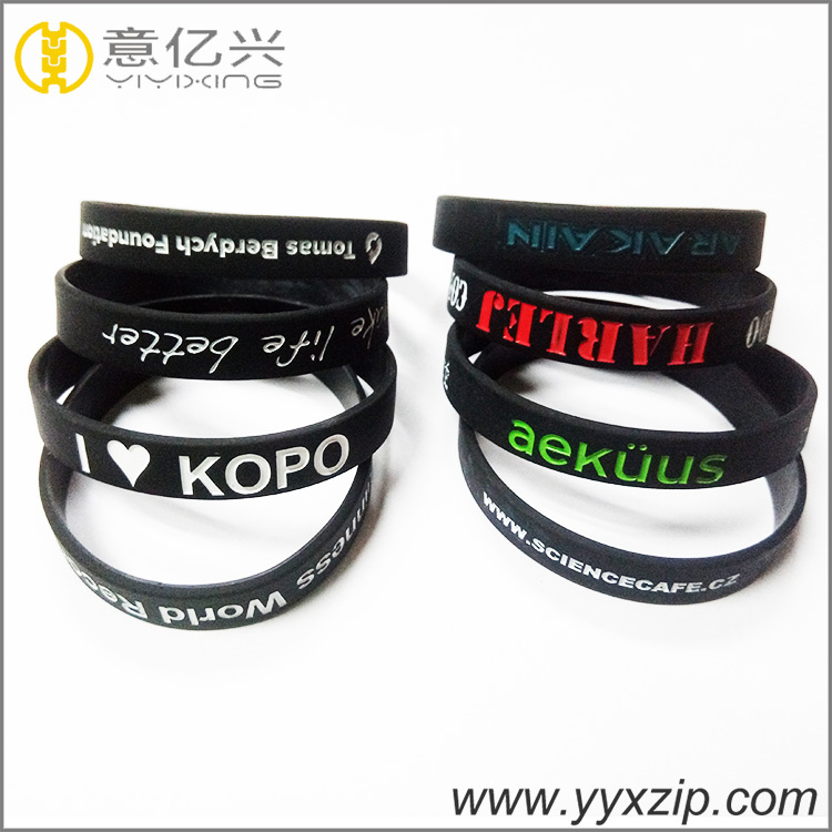 Promotional Gifts Logo Printed Custom Cheap Silicon Bracelet