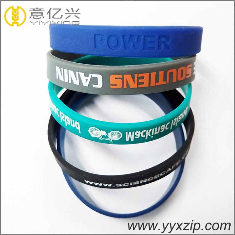 Custom Logo Soft Silicone Wristband for Sports