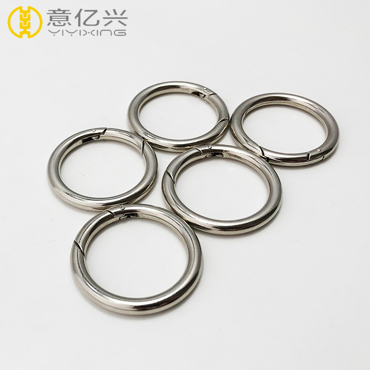 Nickel Plated Metal Snap Clip Spring Gate O Ring For Bag Accessories