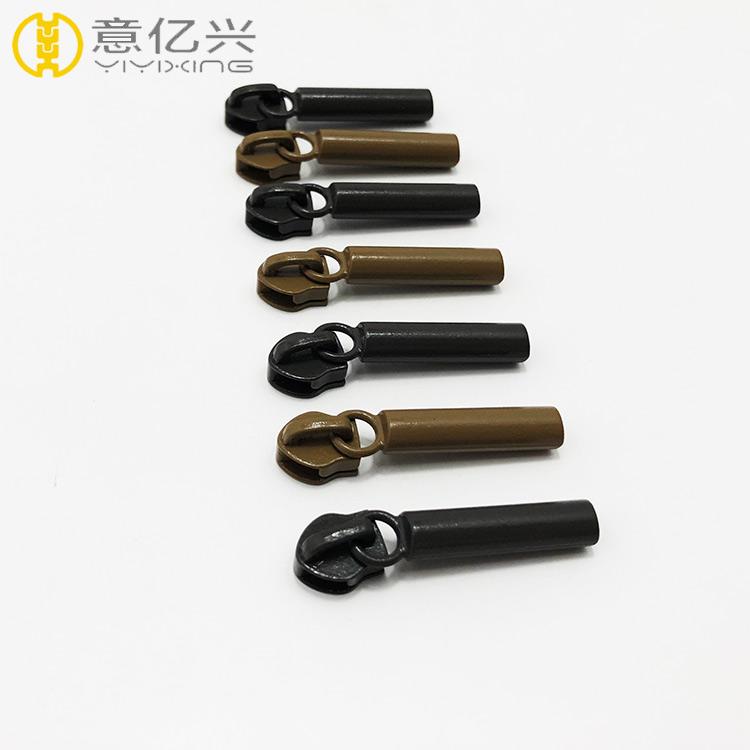 Popular Handbag Black Brown Metal Zipper Puller Slider