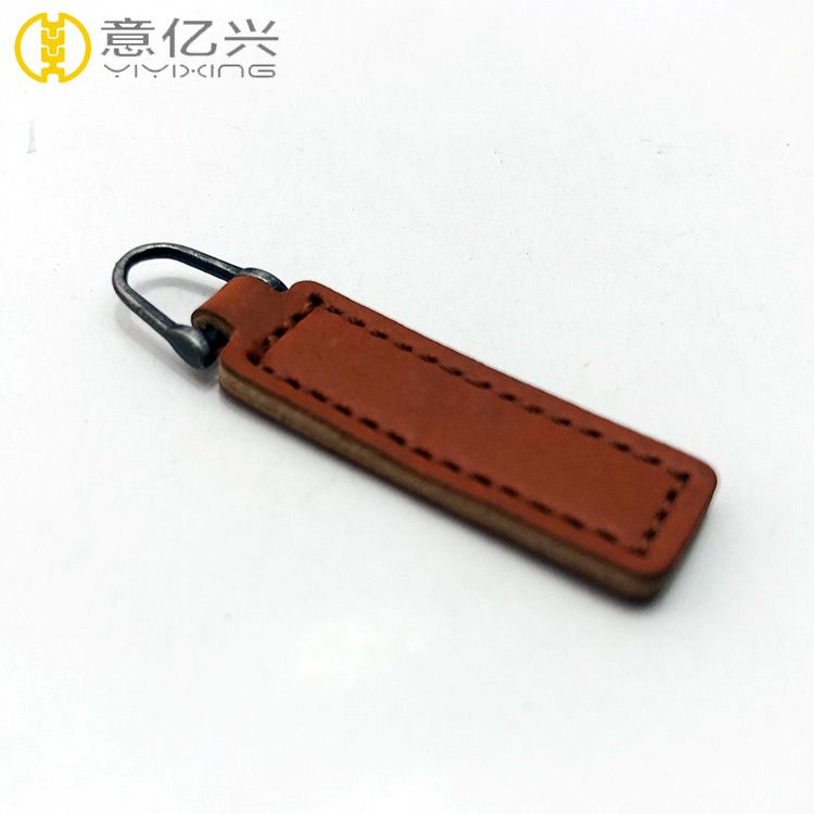 Cool Fancy Custom Leather Zipper Puller Zipper Slider for Garment