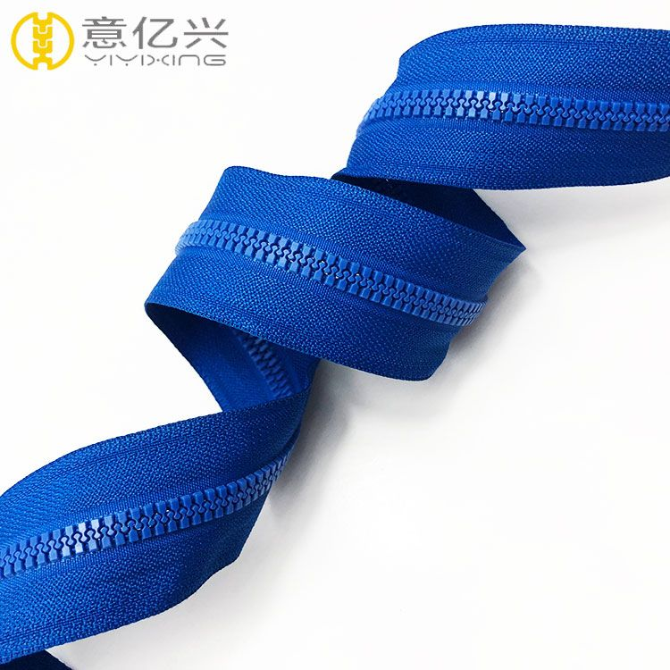 #5 High quality size large teeth plastic resin zippers for decoration