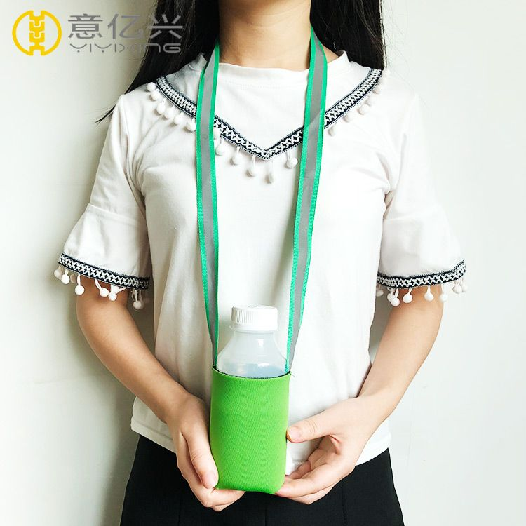 Promotional custom polyester neck lanyard water bottle holder lanyard