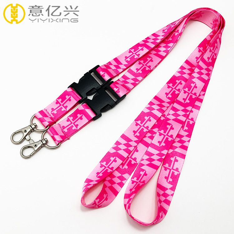 New product high quality polyester custom sublimation lanyard for sale