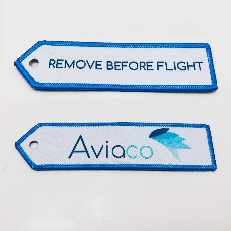 Customize your own remove before flight woven keyring